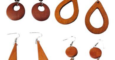Ξύλινα κοσμήματα – Μοναδικά ξύλινα σκουλαρίκια και κολιέ
